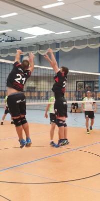 Da sind Parallelen: Pöẞnecker Volleyballer und die Bundestagswahl – oder: Erster Spieltag: Verbandsliga Nord startet für die Pöẞnecker Volleyballer mit einem Sieg - 20211002_152728_6192efc68a825191c81b2c9478bc7dba
