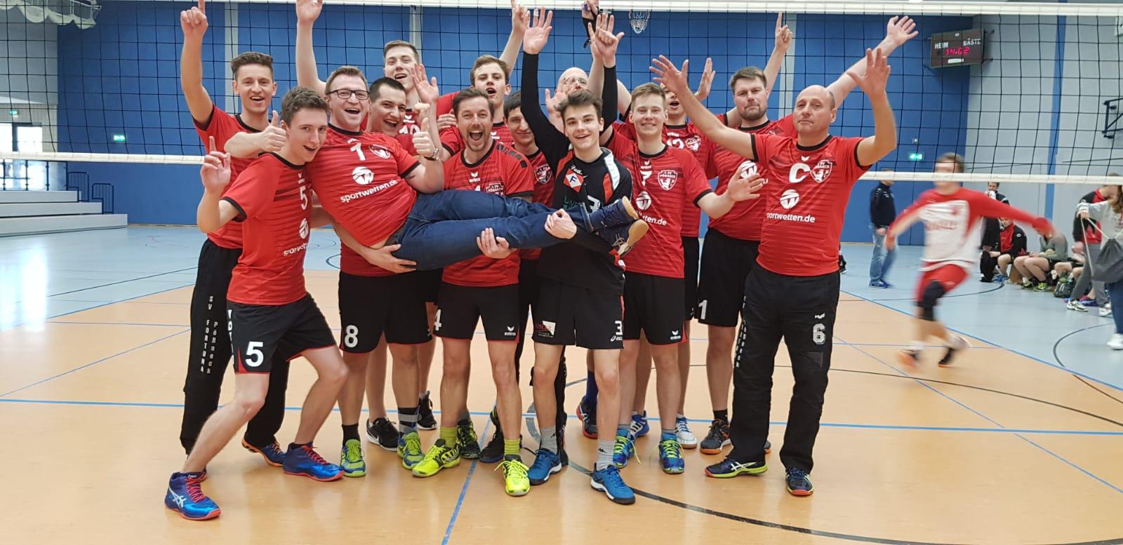 Bezirksliga Ost – Pöẞnecker Volleyballer mit deutlichem Sieg im Derby gegen Knau und damit neuer Tabellenführer der Bezirksliga Ost