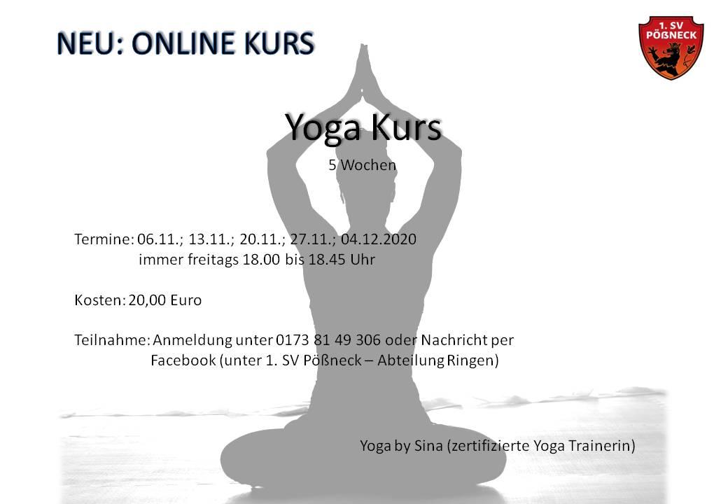 YOGA - Onlinekurs